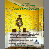 Portfolio Image 10, magazine trade ad for painting and wallcovering services.