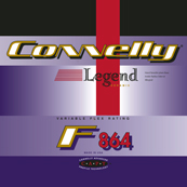 Portfolio Image 37, Connelly 1993 performance series waterski brand line graphic designs