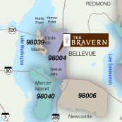 Portfolio Image 12, graphic design-illustration of Bravern commercial property location map