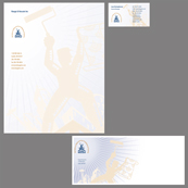 Portfolio Image 3, graphic design of letterhead, card, envelopes